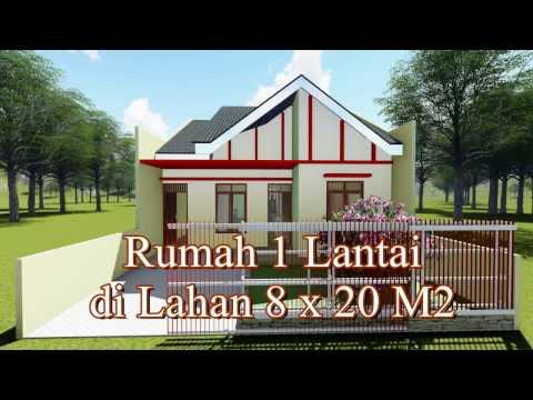 gambar desain rumah minimalis ukuran 8 x 20