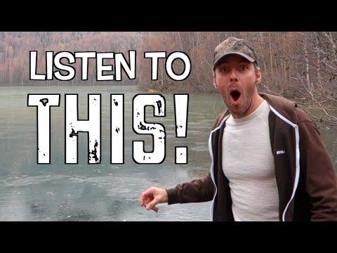 """Замерзшее озеро издаёт """"внеземные"""" звуки, когда в него бросают камень"""