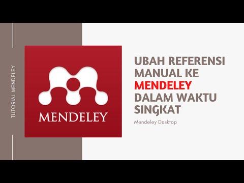 Cara Menjadikan Daftar Pustaka Manual Ke Mendeley