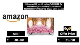 Micromax 108 cm 43 inches Full HD LED TV 43A9181FHD43Z7550FHD43Z9550FHD