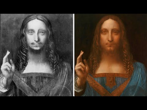 Leonardo's Salvator Mundi restored – timelapse video