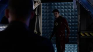 the flash s2e23 wally lets barry get out of pipeline cisco vibes barry to earth 2