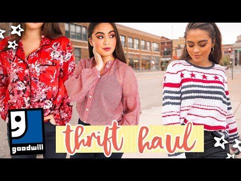 FALL THRIFT STORE HAUL (try on!) // Goodwill Haul ♡