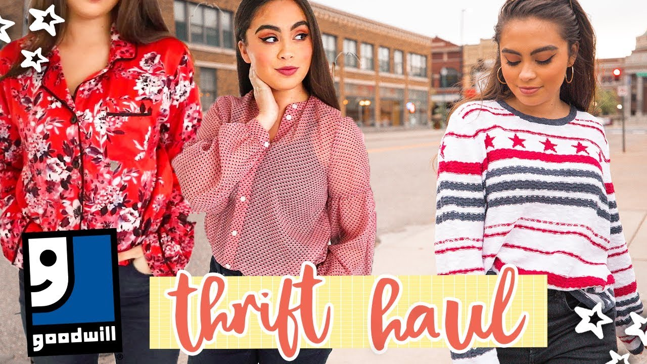 7756a523834ae FALL THRIFT STORE HAUL (try on!)    Goodwill Haul ♡ - YouTube