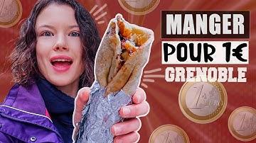 JE MANGE QUE DES TRUCS À 1€ À GRENOBLE PENDANT 24H - Claire