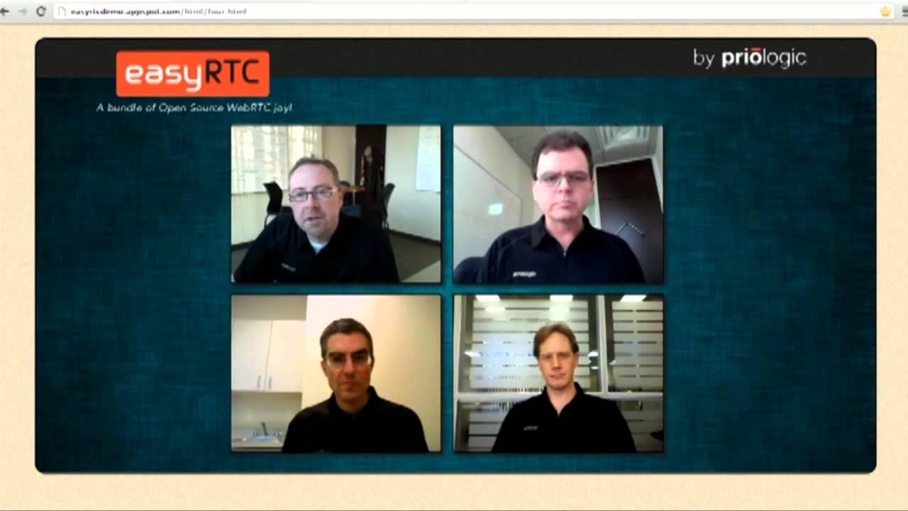 easyRTC demo video for WebRTC Conference & Expo 2012
