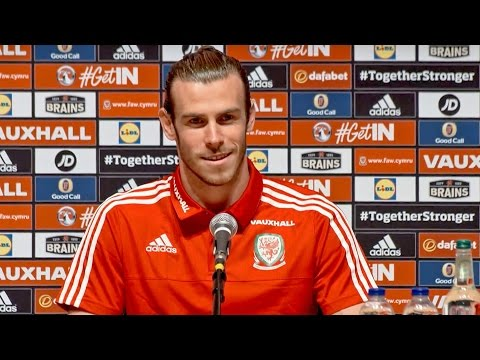 Gareth Bale  press conference ahead of Wales v England