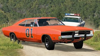 BeamNG Drive Dukes Of Hazzard - Police Chases, Crashes & Stunt Jumps #3