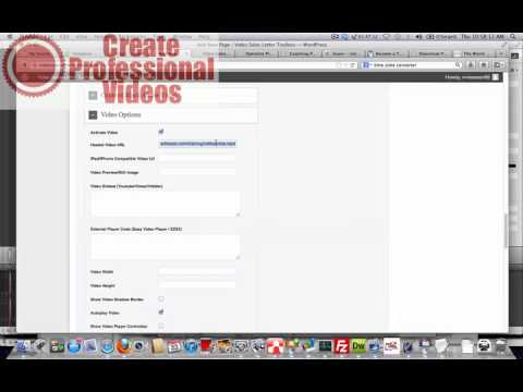 Create video page + delay button