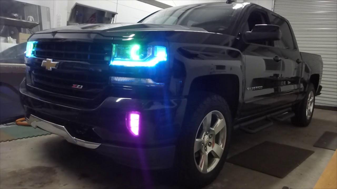 Silverado RGB Extravaganza! Headlights & Foglights & Rock ...