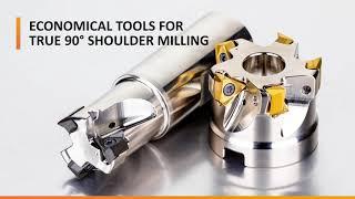 Insert, Cutter Tool Range Ensure90-Degree Shoulder Milling