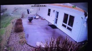 Security Cameras Capture Impact of Tornado on Carbondale, Illinois, Home Part 4