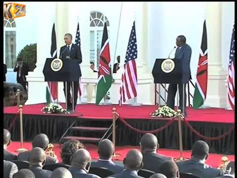 President Kenyatta openly differs with President Obama over gay rights issue
