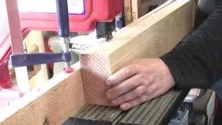 A 3 Wheel Benchtop Bandsaw  Ripping 110mm Oak