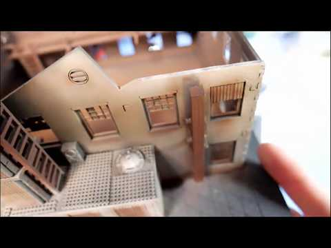 LIVE: Airbrushing 15mm SCIFI Building
