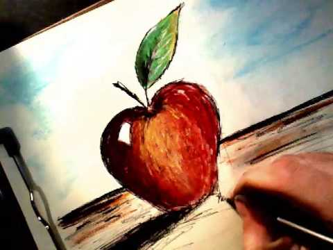 How To Draw An Apple Basic Still Life Youtube
