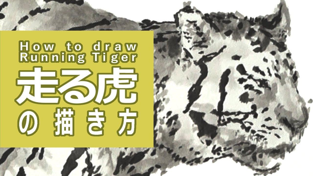 筆と墨のイラスト 描き方絵の上達走る虎 How To Draw A Woman