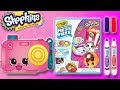 CRAYOLA COLOUR WONDER - SHOPKINS - CAM CAMERA | Little Kelly & Friends ToysReview for Kids