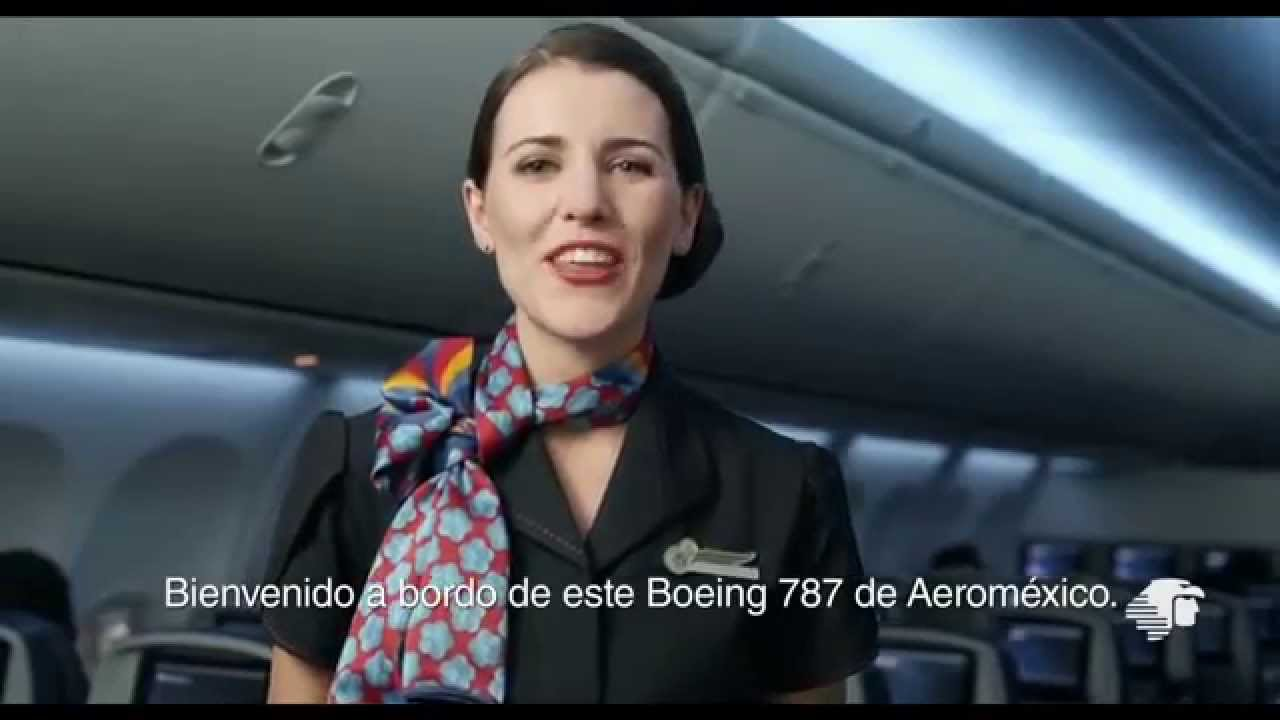 Aeromexico New Boeing 787 In Flight Safety Video Youtube