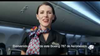 Aeromexico New Boeing 787 In-flight Safety Video