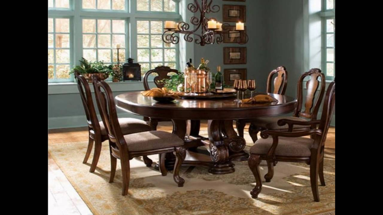Round dining room tables youtube for Dining room tables you tube