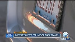 License plate frame could get you a ticket of over $100, drivers cited