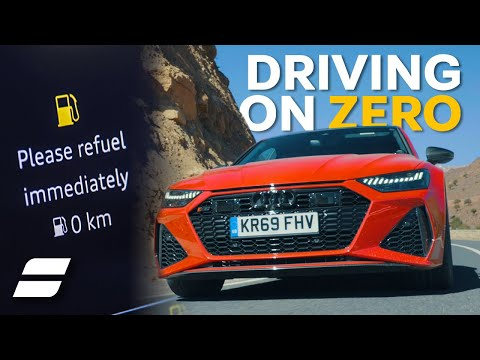 Audi RS7: How Far Can You Drive A V8 With ZERO Fuel?   4K