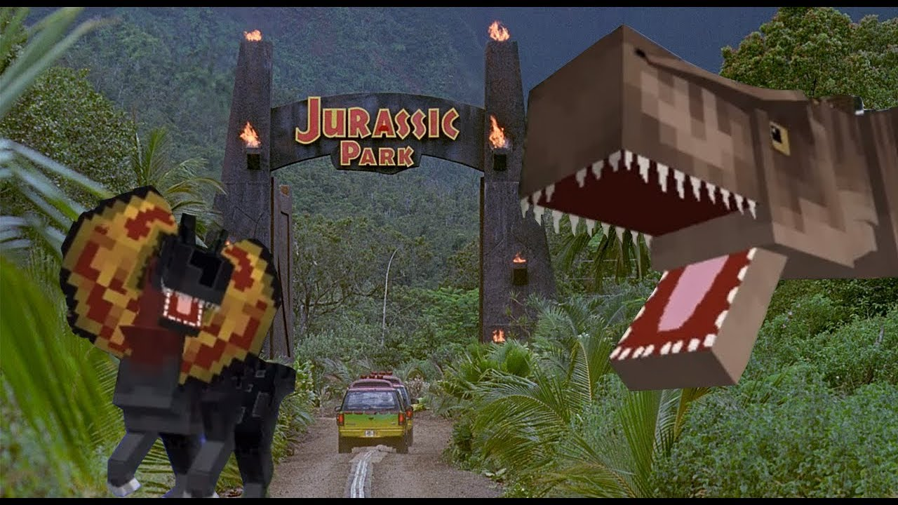 Minecraft Jurassic Park Map For Jurassicraft Mod 1 7 10