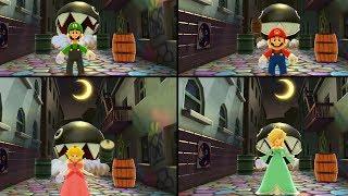 Mario Party The Top 100 MiniGames - Wario Vs Luigi Vs Mario Vs Peach