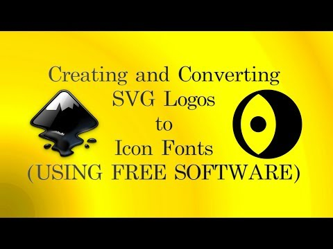 How To Create .SVG Logos, Convert To Icon Fonts (.ttf) Using FREE Software (Inkscape And IcoMoon)