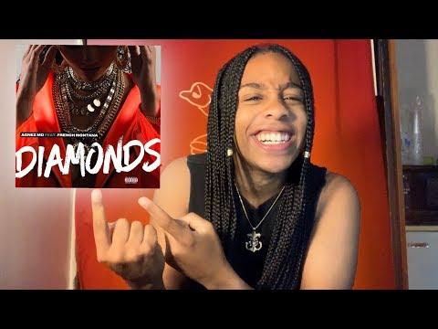 *REACTION* Agnez Mo - Diamonds ft. French Montana [Official Audio]
