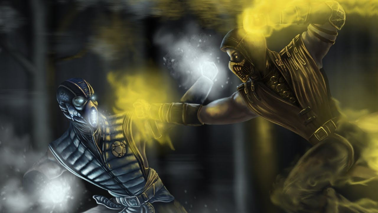 Mortal Kombat X Scorpion Vs Sub Zero Fanart Speed Painting