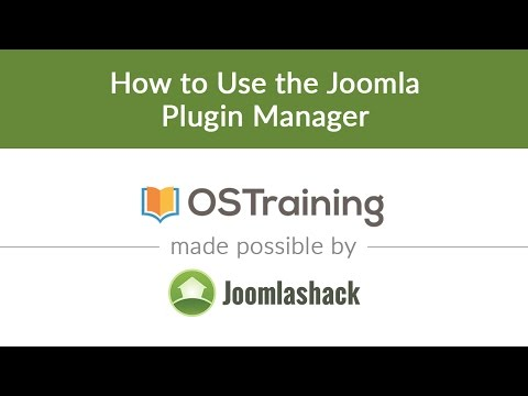 Joomla Beginner Class, Lesson 29: How To Use The Joomla Plugin Manager
