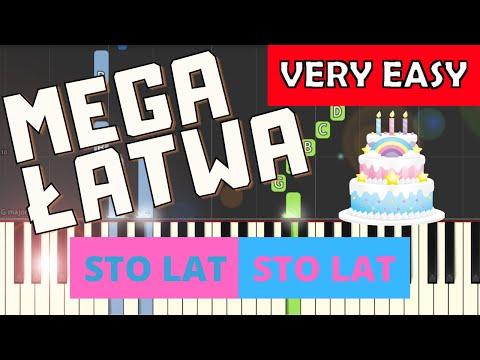 🎹 Sto lat, sto lat (niechaj żyją nam) - Piano Tutorial (MEGA ŁATWA wersja) 🎹