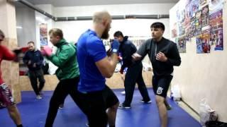 Тренировка по боксу (ХАДИ, Харьков)