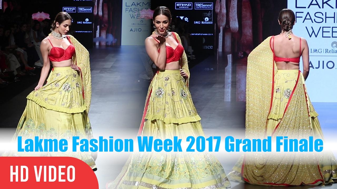 Malaika Arora Khan Ramp Walk Lakme Fashion Week Summer Resort 2017 Grand Finale Youtube