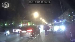 11.10.2018. ДТП Ачинск. пр. Лапенкова, видео с автобуса.