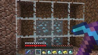 Minecraft UHC but all the stone is replaced with GLASS...