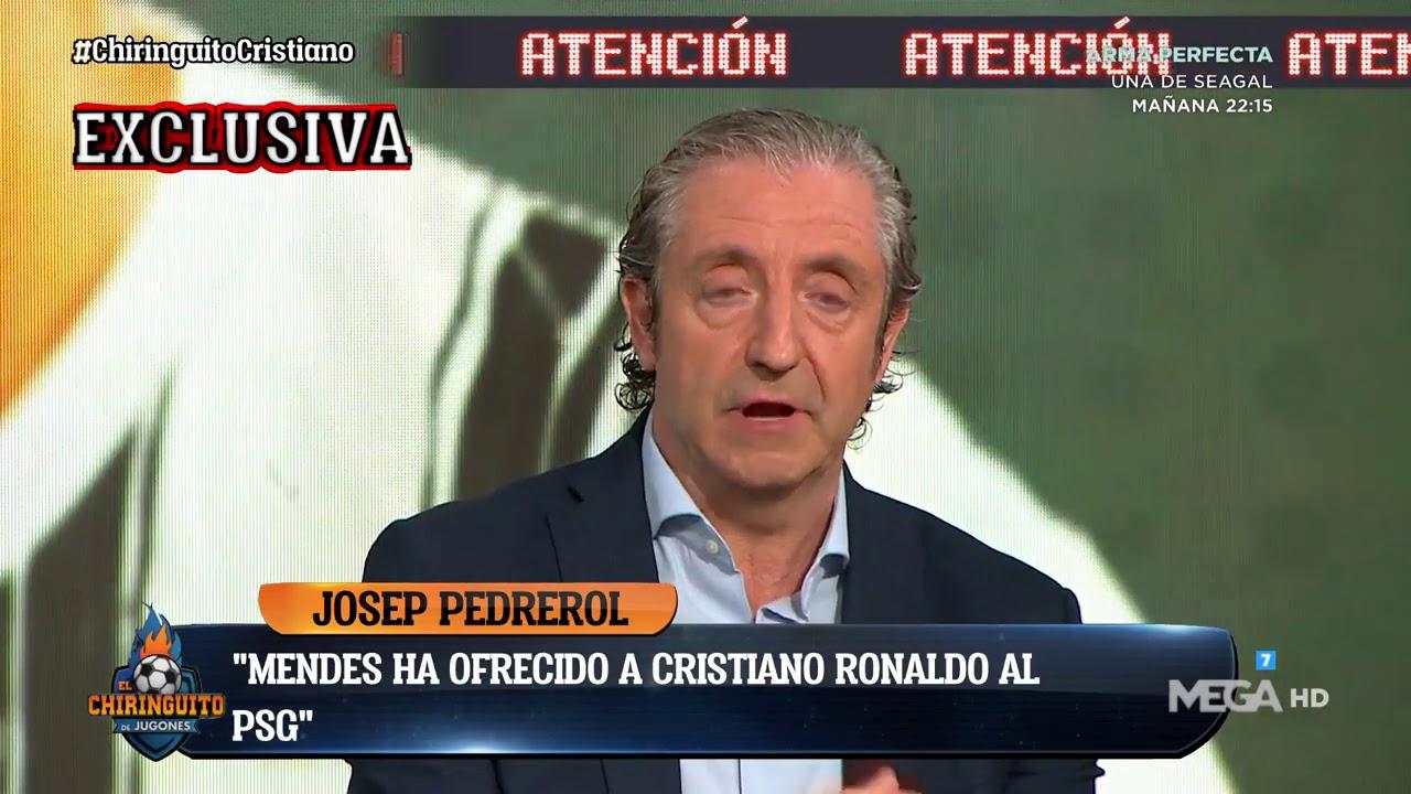 """🚨EXCLUSIVA de PEDREROL: """"MENDES ha ofrecido a CRISTIANO al PSG, al BARÇA y al REAL MADRID"""""""