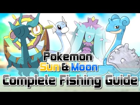 Pokemon Sun and Moon ► How To Get All RARE Fishing Encounters (Dhelmise, Feebas, Mareanie & MORE!)