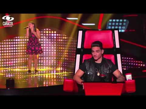 Silvia cantó 'Rosas' de La Oreja De Van Gogh - LVK Colombia- Audiciones a ciegas - T1