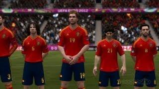 Spain v England - UEFA Euro 12 Gameplay (Xbox 360)