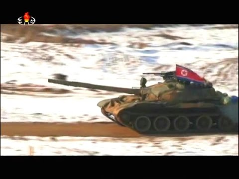 KCTV - North Korea Military Exercise Live Firing 2015 [480p]