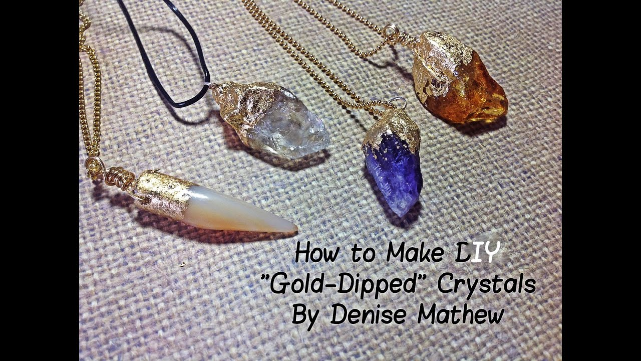 How to make a diy gold dipped crystal pendants by denise mathew how to make a diy gold dipped crystal pendants by denise mathew youtube aloadofball