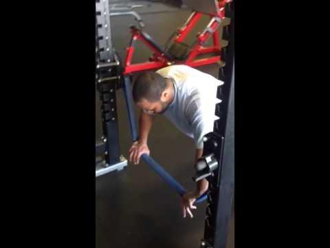 Carey Davis performs an anti extension core stability push