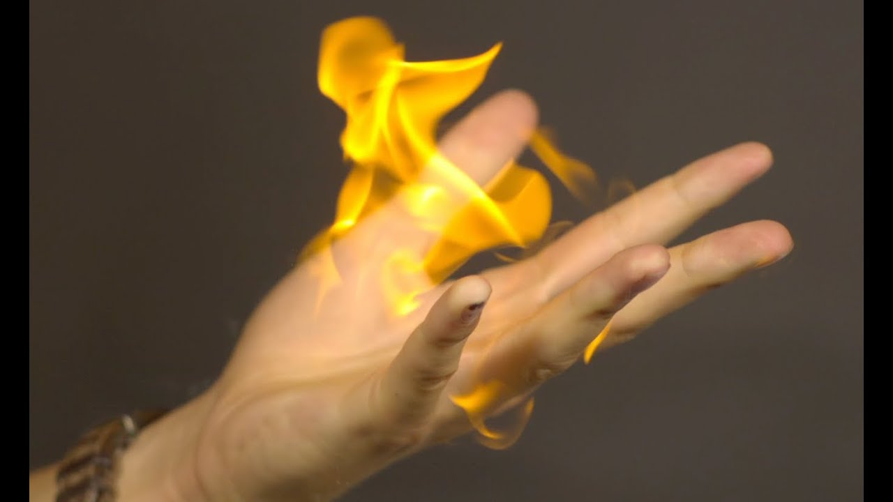 Flaming Hand Fireball - The Slow Mo Guys