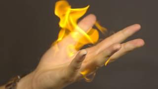 Flaming Hand Fireball - The Slow Mo Guys