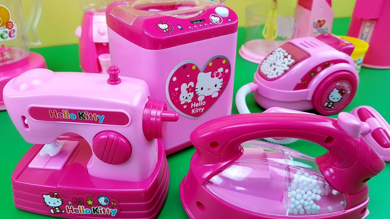 Hello Kitty Mini Household Kitchen Set Toys Play With Miniatures Of