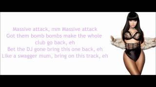 Repeat youtube video Nicki Minaj - Massive Attack Lyrics Video