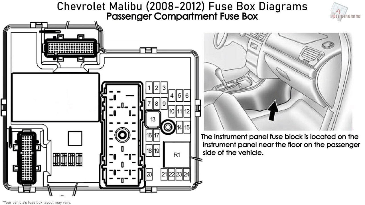 Chevrolet Malibu (2008-2012) Fuse Box Diagrams - YouTube  YouTube